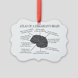 atlas of a librarians brain Picture Ornament