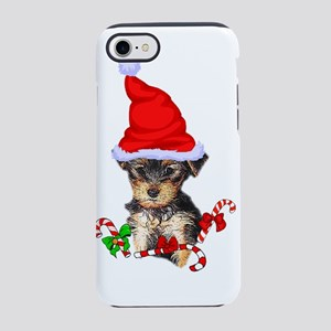 Yorkshire Terrier Christmas Gi iPhone 7 Tough Case