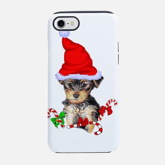Yorkshire Terrier Christmas Gi iPhone 7 Tough Case