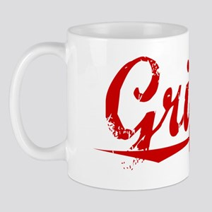 Griffin, Vintage Red Mug