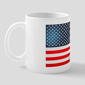 Patriotic License Plate Holder Mug