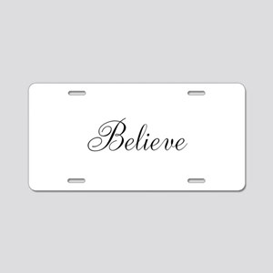 Believe Inspirational Word Aluminum License Plate