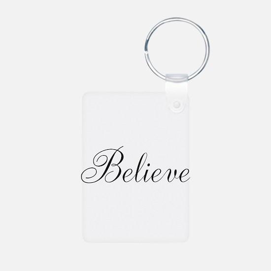 Believe Inspirational Word Keychains