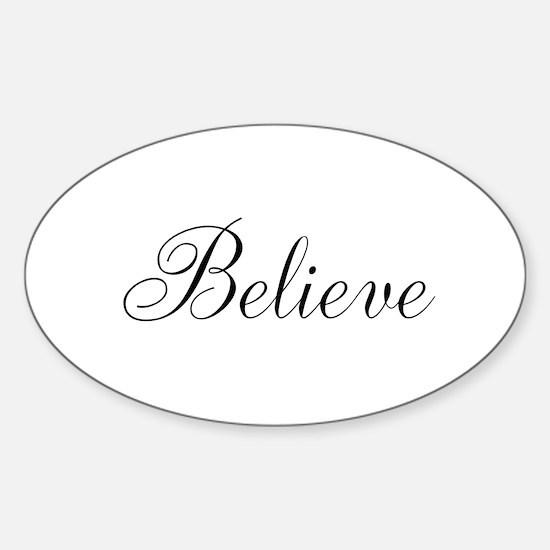 Believe Inspirational Word Decal