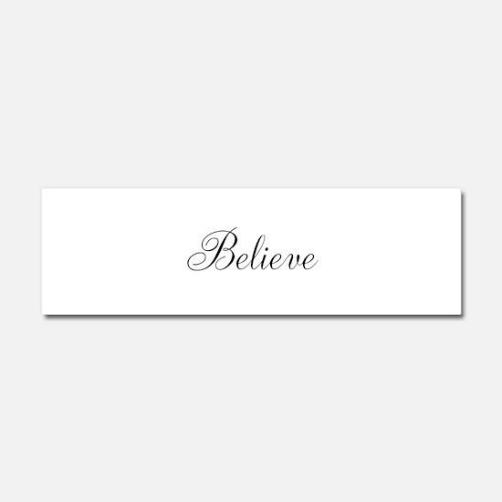 Believe Inspirational Word Car Magnet 10 x 3