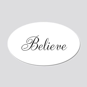 Believe Inspirational Word Wall Decal