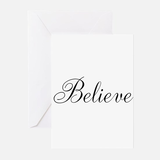 Believe Inspirational Word Greeting Cards