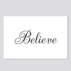 Believe Inspirational Word Postcards (Package of 8