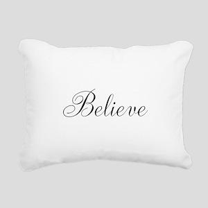 Believe Inspirational Word Rectangular Canvas Pill