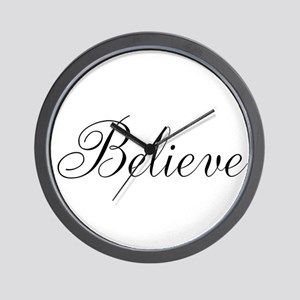 Believe Inspirational Word Wall Clock