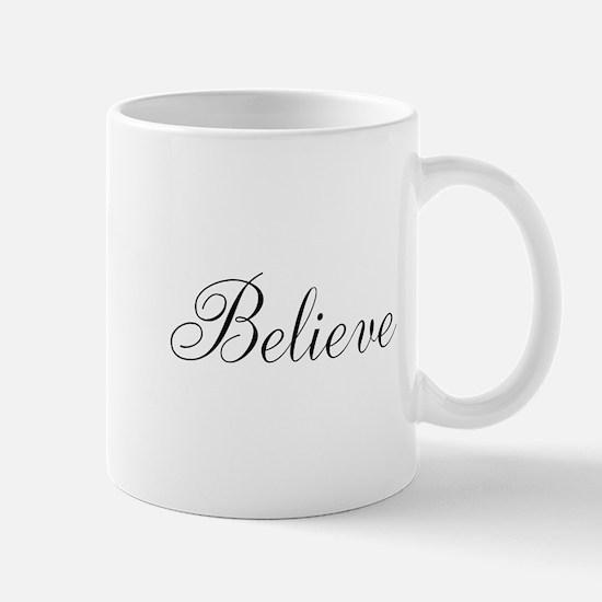 Believe Inspirational Word Mugs