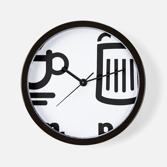 Coffee or beer Wall Clock
