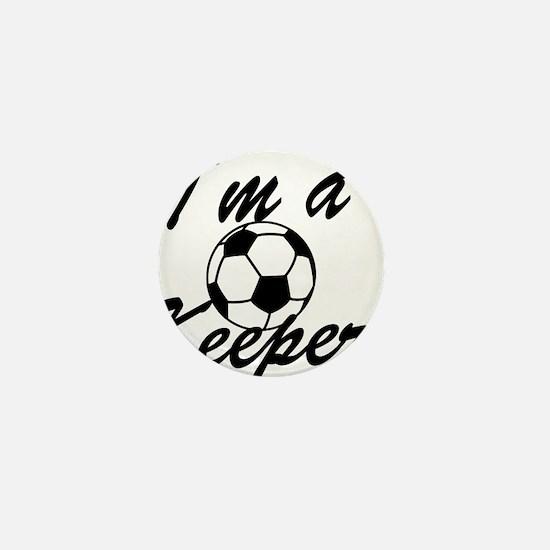 Im a Keeper Blk Mini Button