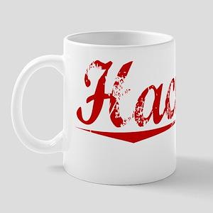 Hackney, Vintage Red Mug