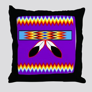 NATIVE AMERICAN BEADED STRIP Throw Pillow