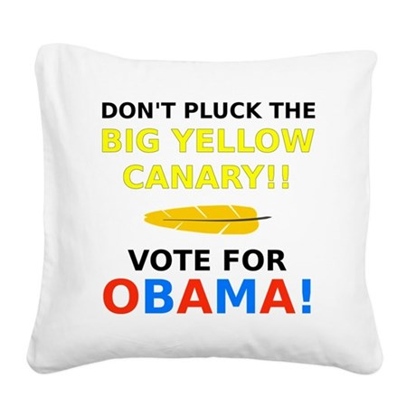 Big Yellow Canary Square Canvas Pillow