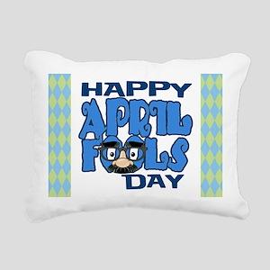 Happy April Fools Day Rectangular Canvas Pillow