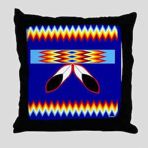 NATIVE AMERICAN BEADED STRIP Throw Pillow
