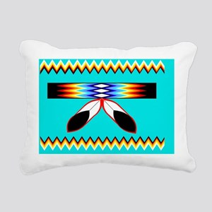 NATIVE AMERICAN BEADED S Rectangular Canvas Pillow