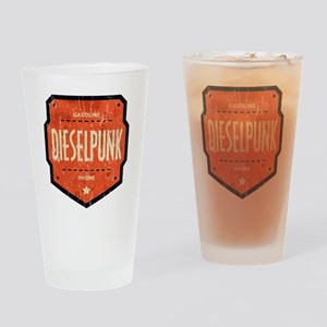 Dieselpunk Chevron Drinking Glass