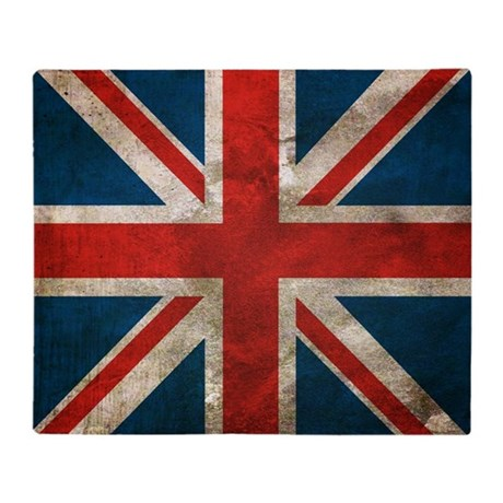 Distressed Union Jack copy Throw Blanket