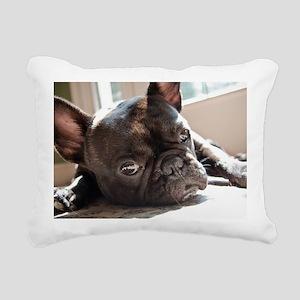 frenchie Rectangular Canvas Pillow