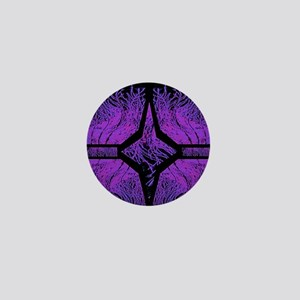 coral reef purple Mini Button