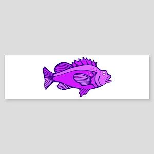 Purple Fish Bumper Sticker