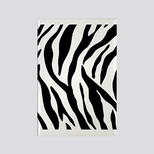 Zebra Stripes Rectangle Magnet