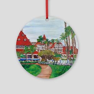 Coronado Hotel Del Round Ornament