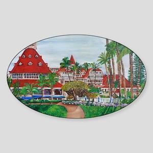 Coronado Hotel Del Sticker (Oval)