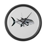 Giant Trevally Large Wall Clock