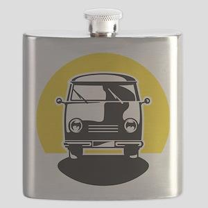 Minivan in Sunset 1 Flask