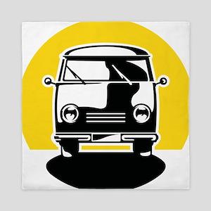Minivan in Sunset 1 Queen Duvet