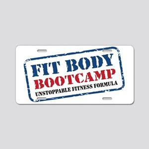 Fit Body Boot Camp Aluminum License Plate