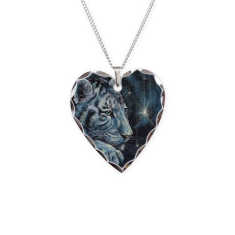 Burning Bright Necklace Heart Charm
