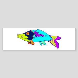 Colorful Fish Bumper Sticker