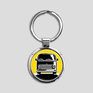 Minivan in Sunset 2 Round Keychain
