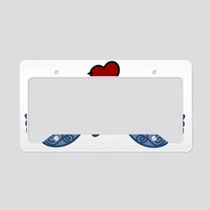 Peace Birds License Plate Holder