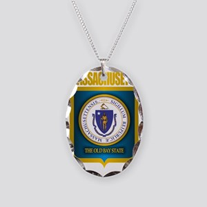 Massachusetts Gold Label Necklace Oval Charm