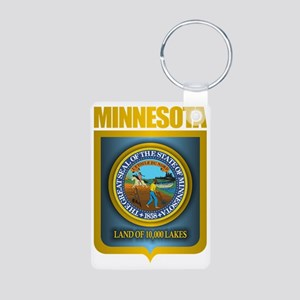 Minnesota Gold Label Aluminum Photo Keychain