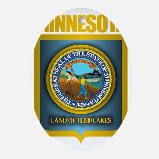 Minnesota Gold Label Oval Ornament