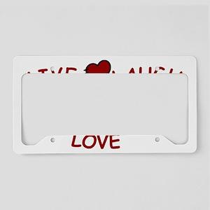 Live Laugh Love License Plate Holder