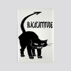 BLACKCATTITUDE #2 Rectangle Magnet
