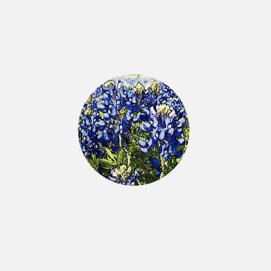 Texas Bluebonnets Mini Button