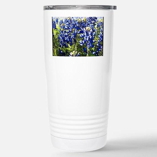 Texas Bluebonnets Stainless Steel Travel Mug