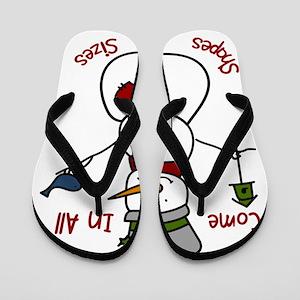 Grandma Snowman Flip Flops