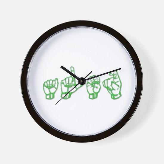 Alex -green in ASL Wall Clock