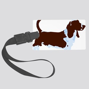 Basset Hound Pop Art dog Large Luggage Tag