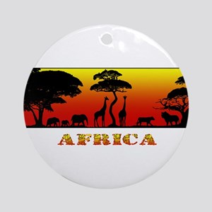 African Savanna Ornament (Round)